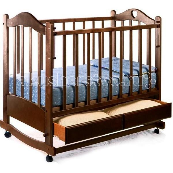 Детская кроватка Ведрусс Лана №2 (качалка) - Темный орех (Орех)