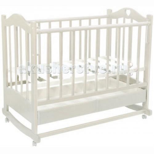 Детская кроватка Ведрусс Лана №2 (качалка)Лана №2 (качалка)колесо-качалка  ящик  трансформируется в диванчик  накладка ПВХ  автостенка  3 уровня ложе (размер 120х60 см)   Размеры: длина 1250 мм, ширина 780 мм.<br>