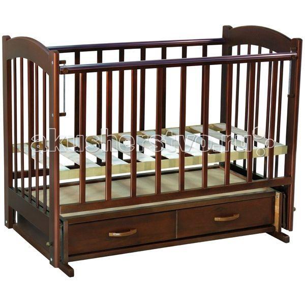 Детская кроватка Ведрусс Радуга №4 (маятник) - Вишня