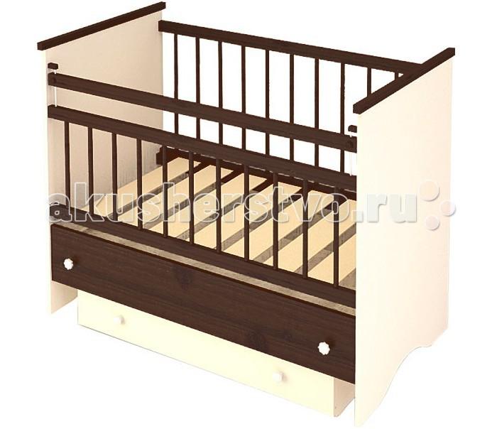 Детская кроватка Бэби Бум Вероника (маятник продольный) - Венге