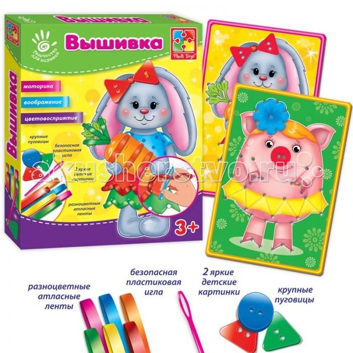 Vladi toys Набор для творчества Вышивка лентами
