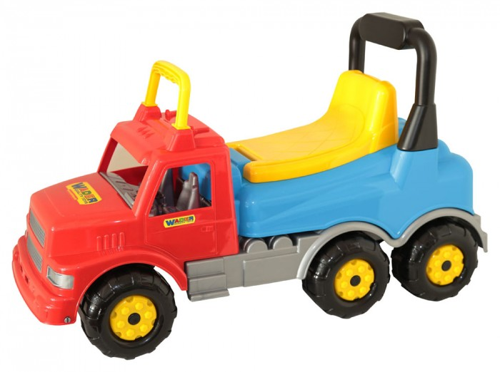 Каталка Полесье автомобиль Буранавтомобиль БуранДетская каталка автомобиль Буран может быть использована в двух вариантах: как каталка, которую малыш будет толкать перед собой, держась за высокую спинку сиденья, или как машина, которой ребенок будет сам управлять, отталкиваясь от земли ножками. При этом сидение достаточно удобное и оборудовано внутренним ящиком. Он весьма вместительный - туда можно будет положить всё необходимое для прогулки.   Модель этой каталки выполнена в виде мощного грузовика с детализированной кабиной.   Шесть крупных колес с протекторами и поручень для рук обеспечивают безопасность малышу.   Каталки признаны лучшими игрушками для развитии координации движений ребенка. Они актуальны и дома, и на прогулке.  Высота сиденья 23 см. Каталка способна выдержать ребёнка до 50 кг.<br>
