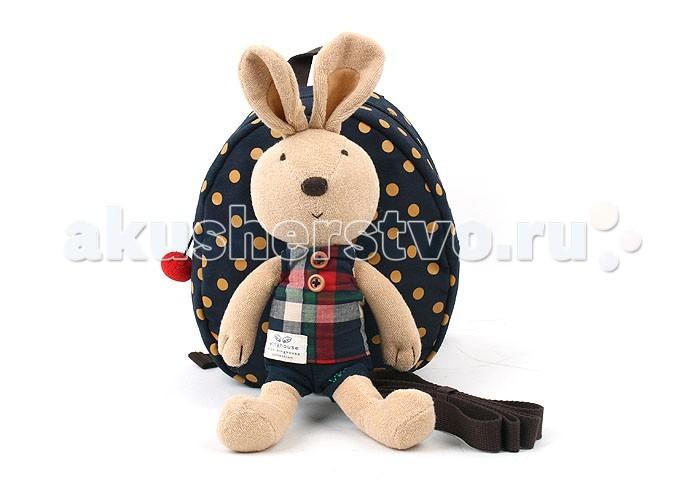 Winghouse Рюкзак детский с игрушкой и поводком Кролик