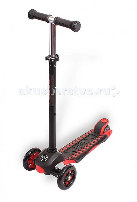 Самокат Y-Bike Glider XL Maxi DeluxeGlider XL Maxi DeluxeСамокат Y Bike Glider XL Maxi Deluxe Такая же запатентованная система управления,что у Glider Mini, но для детей постарше - от 5 лет.Поэтому он-MAXI.Уникальная особенность и отличие от аналогов-силиконовое широкое заднее колесо, обеспечивающее повышенную устойчивость и облегчающее управление.Ручка меняется по высоте.  Алюминиевая рама-очень легкая и эргономичная.Ручка сверху покрыта очень новомодным покрытием- черный матовый сатин.Гибкая подножка сделана из мягкого пластика,усиленного стекловолокном,тем самым исключая риск травмирования ребенка об нее.А прорезиненная поверхность не даст детской ножке соскользнуть с платформы самоката.  Особенности: Передние колеса-литой каучук,заднее-силикон PU. Диаметр колес:передние &#8709;120 мм, заднее &#8709;100 мм Подшипники:АВЕС  Задний тормоз. Максимальная высота ручки: 89 см Минимальная высота ручки: 57,5 см Платформа 35 х 13см  Нагрузка:40 кг  Очень приятно, что инженеры компании Y-BIKE придумали Glider MAXI- самокат для детей постарше. Потому что они узнали, что дети не хотели расставаться c Glider MINI.Они сохранили стиль и технологию как у Glider MINI. При этом сделали самокат прочнее, с максимальной нагрузкой-50кг. Высота ручки регулируется под любой рост ребенка.<br>