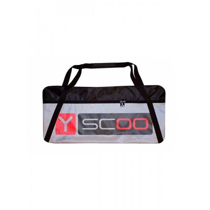 Y-Scoo Сумка-чехол для самоката 230Сумка-чехол для самоката 230Y-Scoo Сумка-чехол для самоката 230 - чехол для всех самокатов R-Toys с колесами диаметром до 230 мм.  Особенности: Уникальность чехлов Y-Scoo — прочная ткань ПВХ и очень широкий, прочный и надежный замок-молния. 2х-замковая усиленная молния расстёгивается максимально, что позволяет легко и быстро уложить самокат в чехол.  Универсальный чехол с широким усиленным плечевым ремнем - лямкой на карабине, который можно отрегулировать на любую длину.  Ремень - лямка выполнен как мягкий наплечник, который позволит удобно носить самокат за спиной.  Дополнительная ручка для вертикальной переноски чехла с самокатом- из мягкого силикона.  Очень прочная и эргономичная.  Материал — прочная износостойкая непромокаемая двухслойная ткань с ПВХ, применяемая для специализированного производства чехлов и сумок.  Внутренняя сторона чехла- ПВХ- водо-грязенепроницаемый  материал.  Его легко и просто протирать и мыть.  Чехол можно сложить, в сложенном виде он занимает мало места.  Чехол необходим для перевозки самоката в общественном транспорте, потому что очень важно не испачкать одежду окружающих. А для хранения самоката чехол просто идеален.<br>