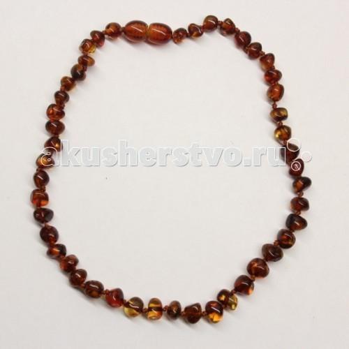 Прорезыватель Yanru Янтарное ожерелье 14 см