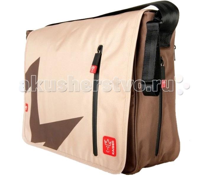 Kaiser Сумка Messenger T1Сумка Messenger T1Сумка для мамы Kaiser Messenger T1 многофункциональная, с отделением для ноутбука, множеством кармашков и матрасиком для пеленания. С плечевым ремешком, который регулируется и креплением для коляски, для cохранения детского питания есть карман на молнии с термопокрытием.  Материал: 100% полиэстер (водоотталкивающий). Размеры сумки: 38x13x31 см.<br>