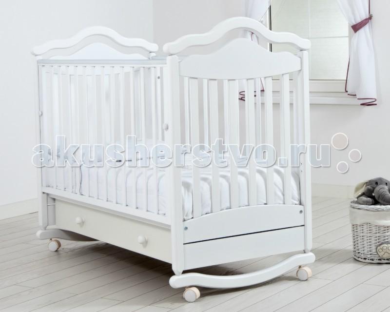 Детская кроватка Гандылян Анжелика (качалка) - Белый