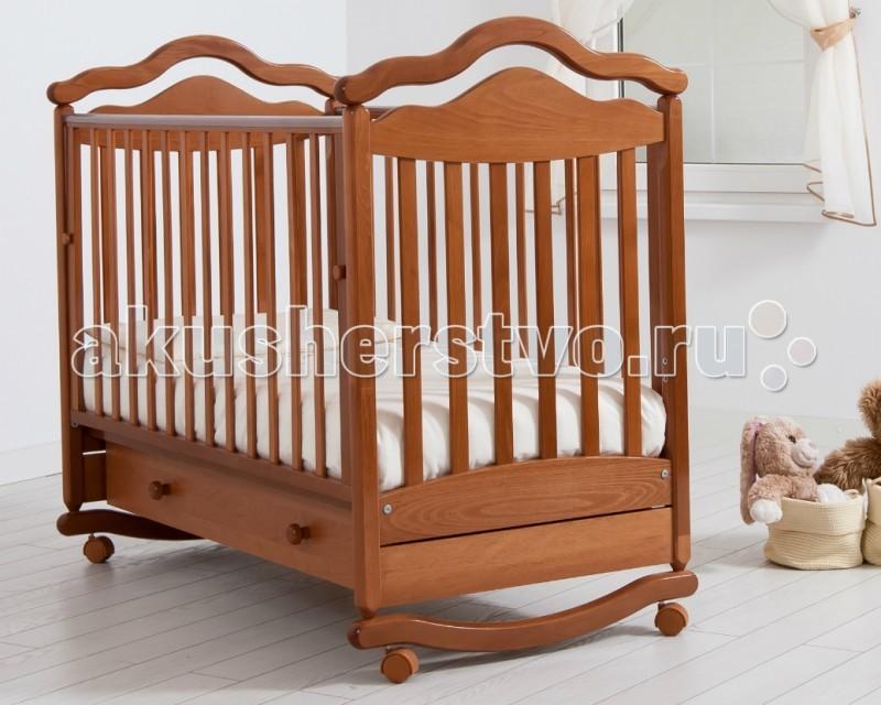 Детская кроватка Гандылян Анжелика (качалка) - Вишня