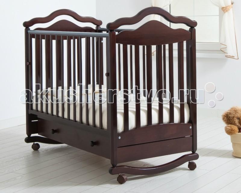 Детская кроватка Гандылян Анжелика (качалка) - Махагон