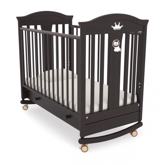 Детская кроватка Гандылян Даниэль (качалка) - Махагон