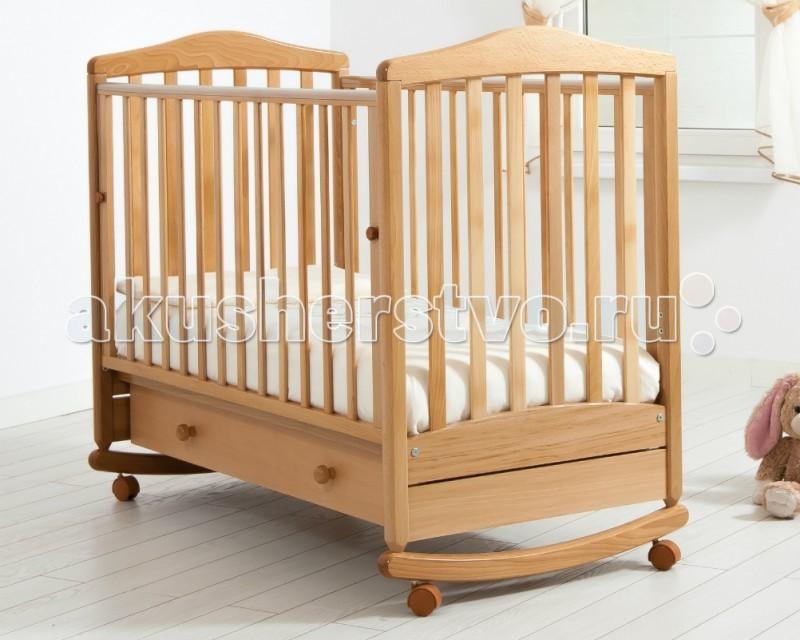 Детская кроватка Гандылян Симоник (качалка) - Натуральный