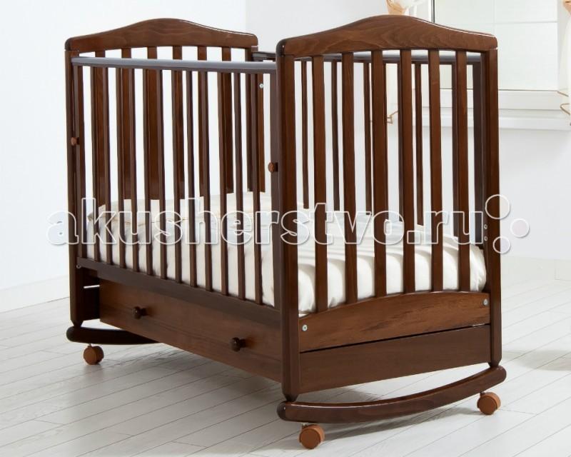 Детская кроватка Гандылян Симоник (качалка) - Орех
