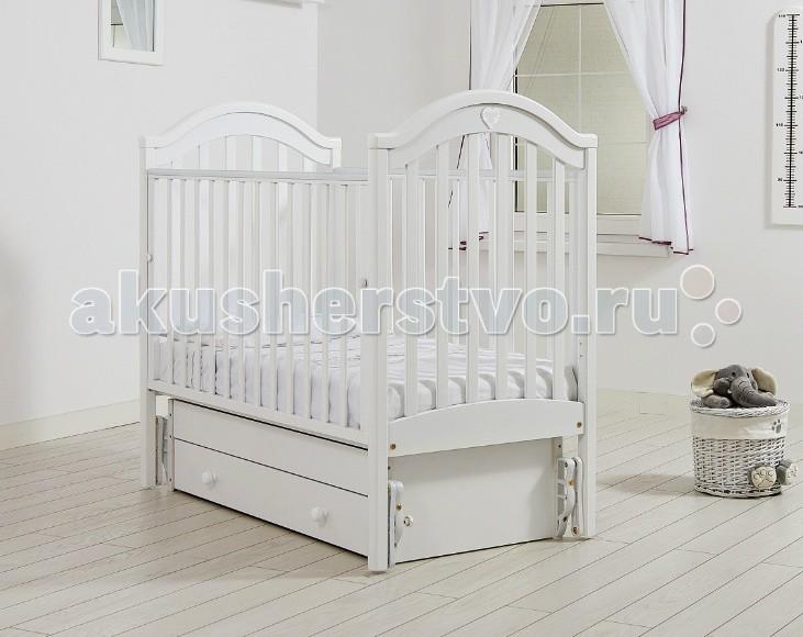 Детская кроватка Гандылян Софи (универсальный маятник) - Белый