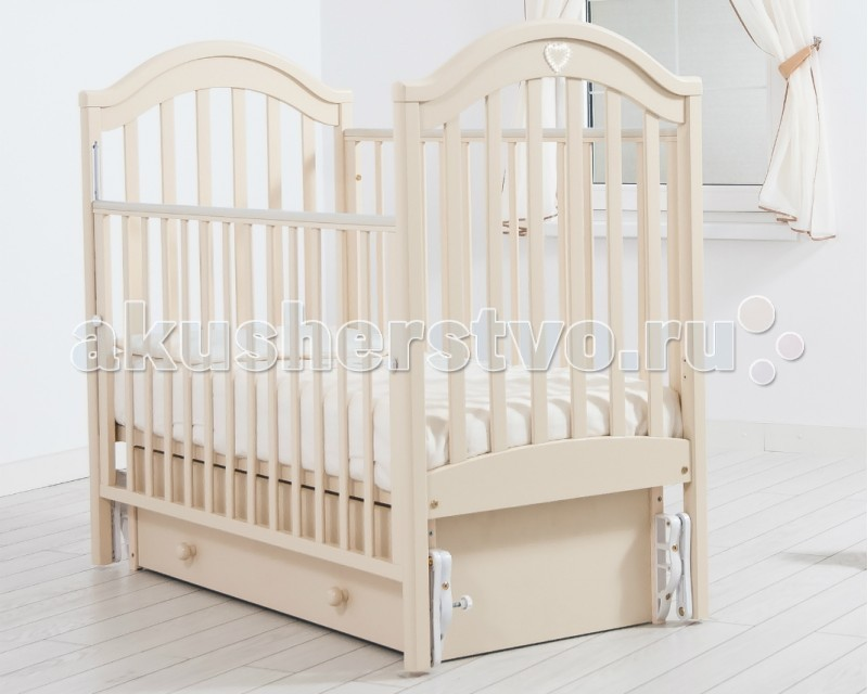 Детская кроватка Гандылян Софи (универсальный маятник) - Слоновая кость