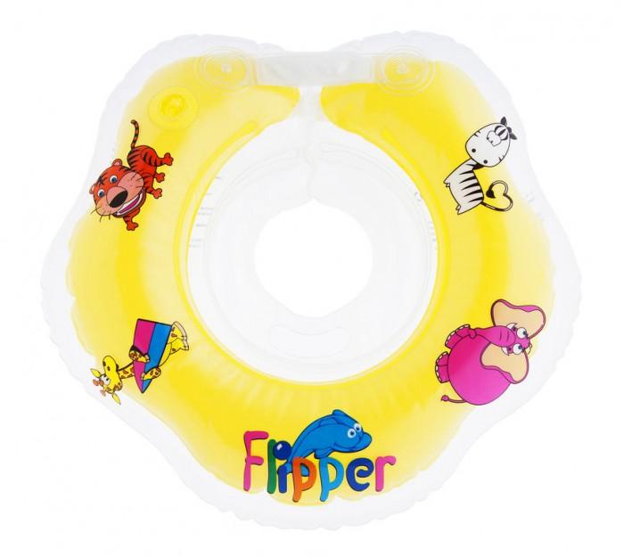 Круг для купания Roxy Flipper на шею для новорожденныхFlipper на шею для новорожденныхПлавательный круг Flipper Roxy сделан специально для самых маленьких – от 0 до 2 лет, совершенно безопасен, великолепно стимулирует природный плавательный рефлекс малышей.  Круг изготовлен из прочного полимера и имеет: 2 воздушных камеры, в которых находятся шарики-погремушки комфортную выемку для подбородка ручки, благодаря которым родители смогут контролировать и способствовать плаванию ребенка 2 практичных застежки (карабин и липучка) для быстрой и простой фиксации круга во время купания  Особенности: размеры круга 390-360 мм круг рассчитан для детей в возрасте от 0 месяцев до 2 лет, весом до 18 кг круги изготавливаются из прочного надежного материала (современного полимера) надежная удобная фиксация обеспечивается удобными регулируемыми застежками круги обеспечивают наиболее удобное и правильное положение для плавания сглаженный внутренний шов, который имеет непосредственный контакт с шеей малыша<br>
