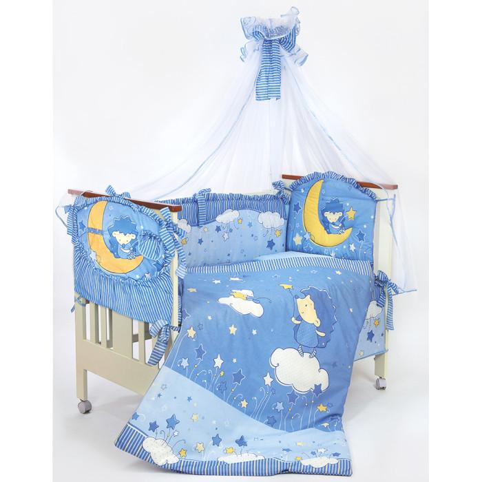 Комплект в кроватку Золотой Гусь Ёжик Топа-Топ (8 предметов)Ёжик Топа-Топ (8 предметов)Это превосходное постельное белье, выполненное из 100% хлопка, в комплекте использованы веселые детские аппликации, которые понравятся Вашему малышу. Бельё полностью безопасно и гипоаллергенно. В состав комплекта входит:   одеяло 108x140;  подушка 40x60;  бампер 360x45;  балдахин 160x450;  наволочка 40x60;  пододеяльник 110x145 см;  простыня на резинке 110x150;  карман   Полный комплект в детскую кроватку из 8-ми предметов. Материал -100% натуральный хлопок, наполнитель-холлофан. Рекомендуется для кроватки размером 120х60см.<br>