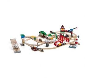 Brio Игровой набор супер-делюкс Город с аэропортом, портом, фермой и автостанцией