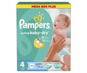Pampers Подгузники Active Baby Maxi Mega Плюс р.4 (7-14 кг) 162 шт.