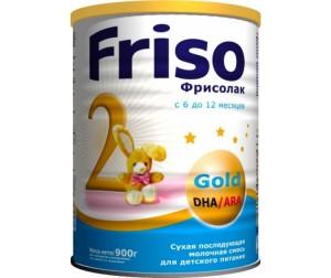 Friso Молочная смесь Фрисолак 2 Gold с 6 мес. 900 г