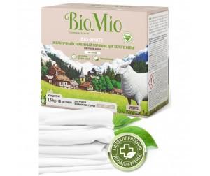 BioMio Экологичный стиральный порошок для белого белья без запаха 1500 г. Доставка по России