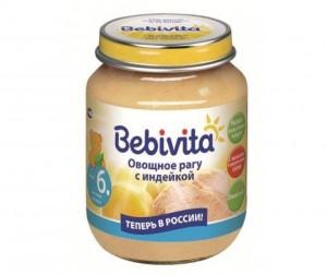 Bebivita пюре овощное рагу с индейкой с 6