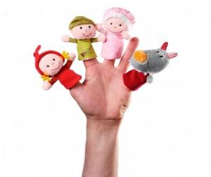 Мягкая игрушка Lilliputiens Пальчиковые игрушки: Красная шапочка