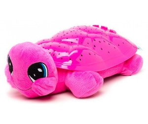 Ночник проектор черепаха розовый