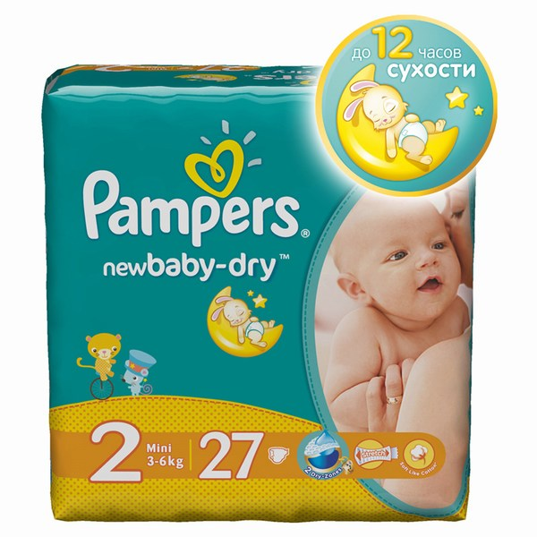 Pampers Подгузники Baby Newborn (3-6 кг) 24 шт.