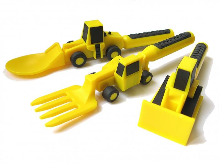 Constructive eating Набор из трех столовых приборов Строительная серия