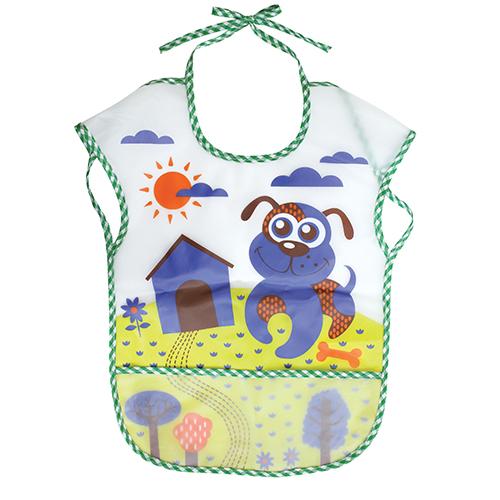 Нагрудник Lubby В мире животных с карманом на завязках