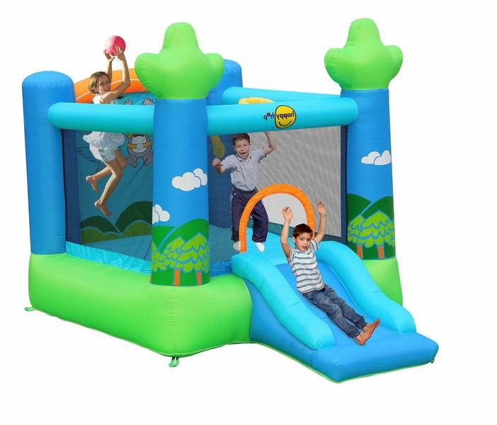 Надувные батуты Happy Hop Надувной батут с горкой Прыжок в небо 9031 741ed976dae
