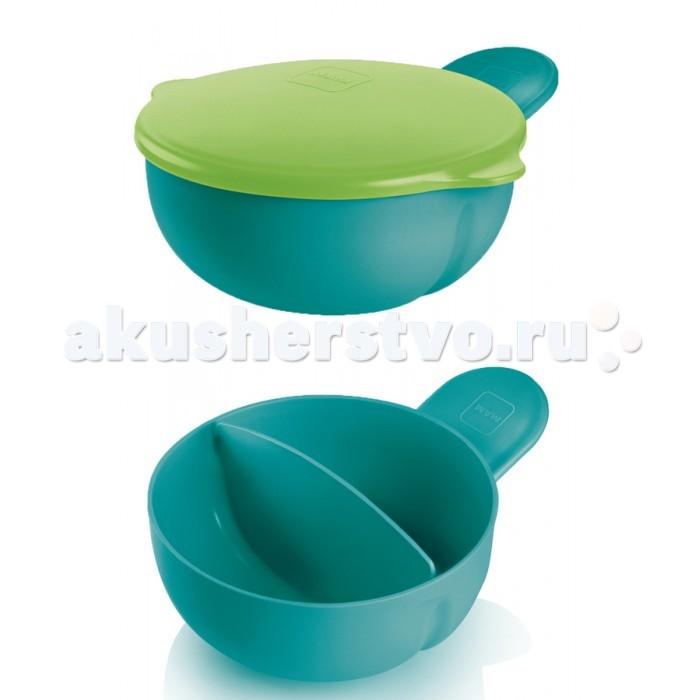 MAM Feeding Bowl-kulho 2-х секционная тарелка с крышкой 6+